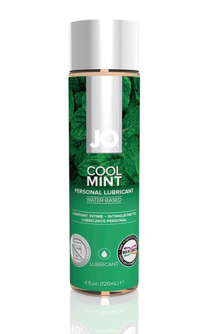 Ароматизированный лубрикант на водной основе с охлаждающей мятой JO Flavored Cool Mint H2O 120 мл