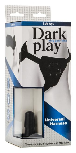 Трусы для страпона Dark Play со шнуровкой (черный)