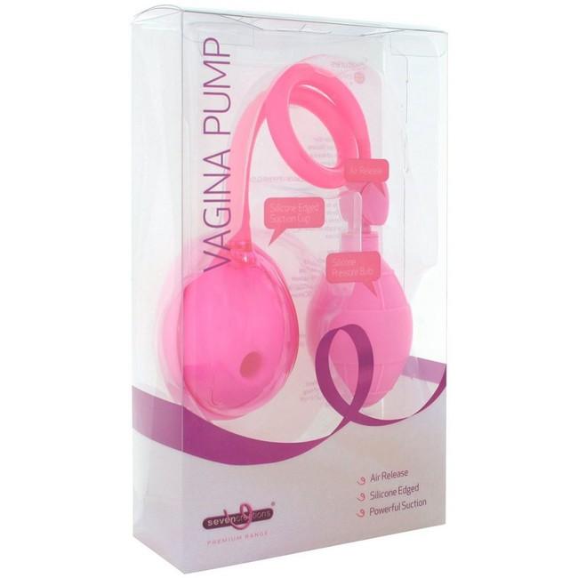Вагинальная вакуумная женская помпа розовая