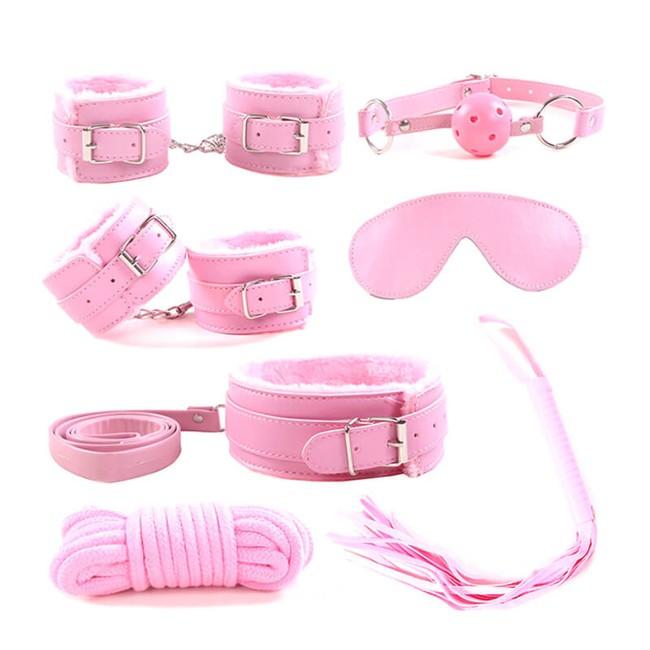 Секс-набор для бондажа Onjoy BDSM Starter Kit розовый (7 предметов)